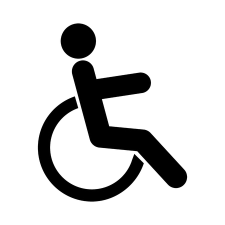 handicapped: Disabled sign icon. Human on wheelchair symbol. Handicapped invalid sign.