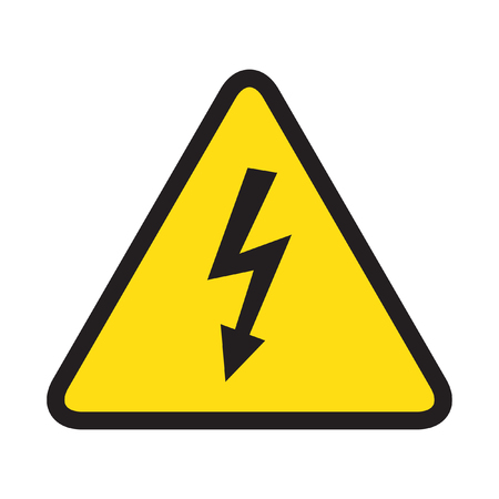 volte: High voltage danger sign isolated on white background