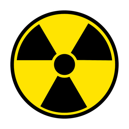 polluted: Radiation Round Sign isolated on white background. Vector illustration
