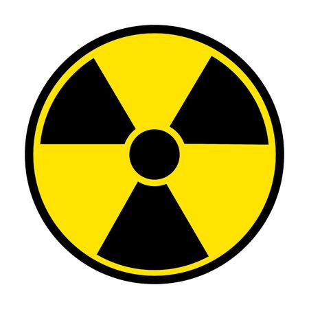 perilous: Radiation Round Sign isolated on white background. Vector illustration