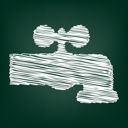 spew: The water faucet icon. Vector illustration with chalk effect