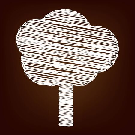 treetop: Tree icon. Vector illustration with chalk effect Illustration