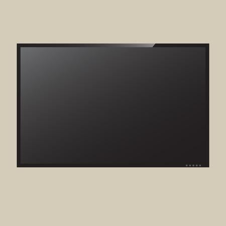 LCD o LED TV de pantalla Ilustración vectorial