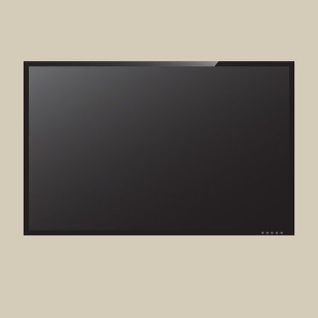 lcd: LCD or LED tv screen vector Illustration