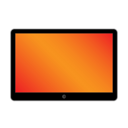 touch pad: Black generic tablet computer on white background. Modern portable touch pad device