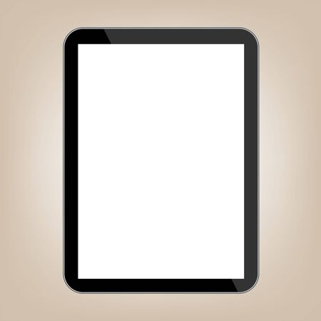 touch sensitive: Abstract style modern tablet with blank screen. Template for any content Illustration