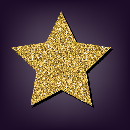 golden star: Star icon. Shiny golden style vector illustration. Illustration