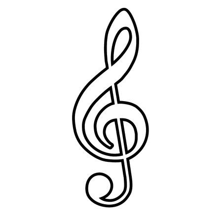 Violine icône de la ligne de clef. Vector illustration sur fond blanc Vecteurs