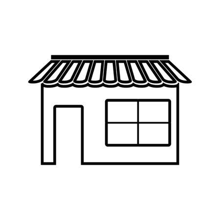 urbanization: Shop line icon. Vector illustration on white background