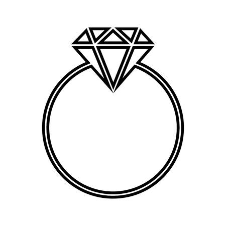 Diamond line icon. Vector illustration on white background