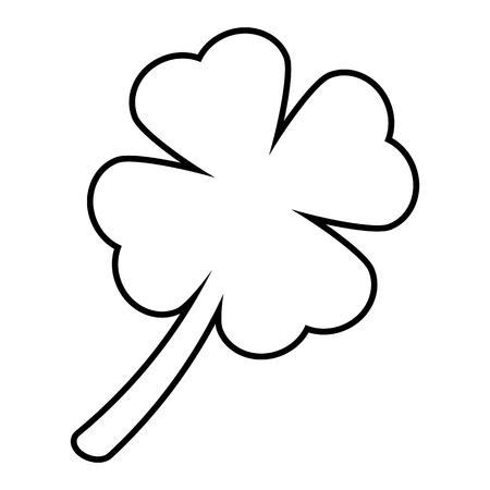 leaf shape: Leaf clover line icon. Vector illustration on white background Illustration