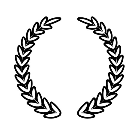 Laurel Wreath line icon. Vector illustration on white background