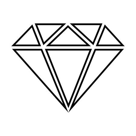 spoil: Diamond line icon. Vector illustration on white background