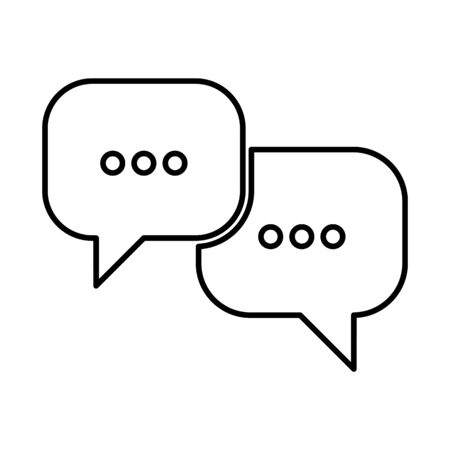bubles: Speech bubles line icon. Vector illustration on white background