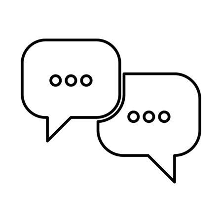 illustrates: Speech bubles line icon. Vector illustration on white background