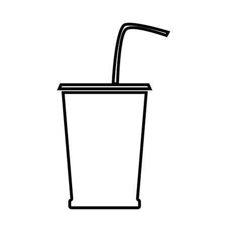 coke: Drink line icon. Vector illustration on white background Illustration
