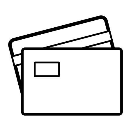 transact: Credit Card line icon. Vector illustration on white background Illustration
