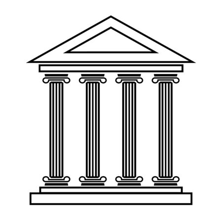 historical building: Historical building line icon. Vector illustration on white background