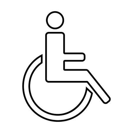 con: Disabled line icon. Vector illustration on white background Illustration