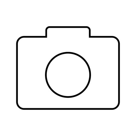icono de la línea de cámaras. Ilustración vectorial sobre fondo blanco Ilustración de vector