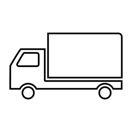 24: Delivery line icon. Vector illustration on white background