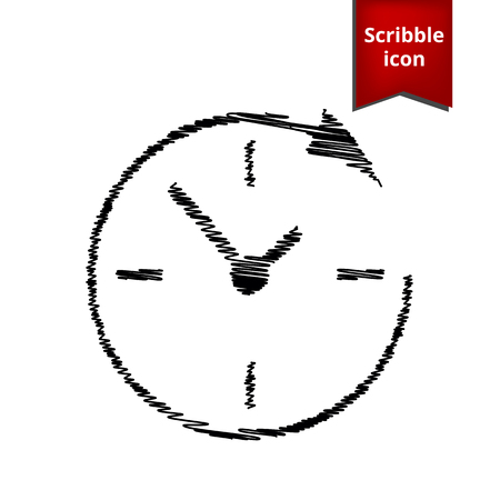 Service and support for customers around the clock and 24 hours  with pen effect. Scribble icon for you design.