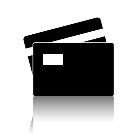 transact: Credit Card Icon. Vector illustration with shadow Illustration