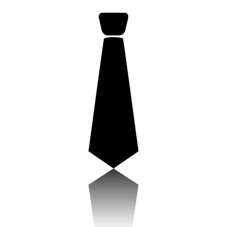 black tie: Black tie icon. Vector illustration with shadow Illustration
