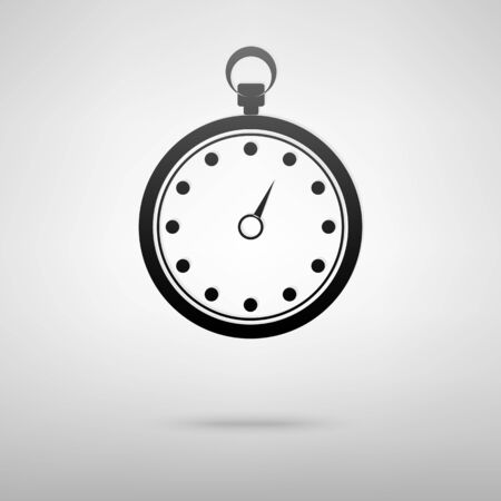 stop watch: Stop watch icon vector illustration with shadow Illustration