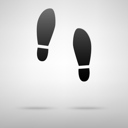foots: Foots black icon. Vector illustration with shadow