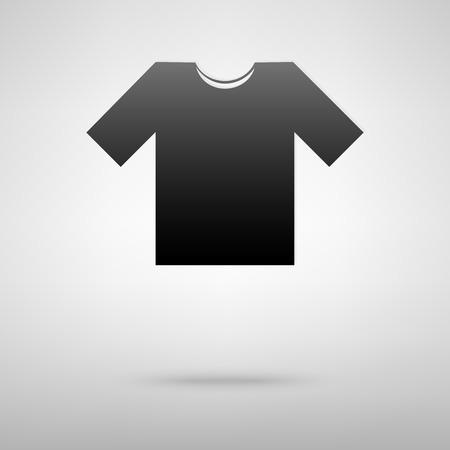 t short: T-shirt black icon. Vector illustration with shadow Illustration