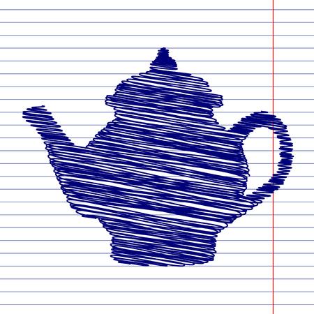 sign maker: Tea maker sign illustration with chalk effect on school paper