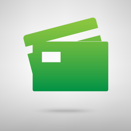 transact: Credit Card icon with shadow on gray background