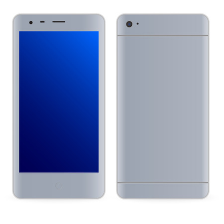 modern palmtop: Modern smartphone illustration. Isolated on the white bavkground
