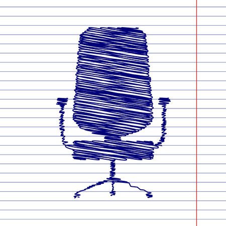 ergonomic: Office chair sign illustration with chalk effect on school paper