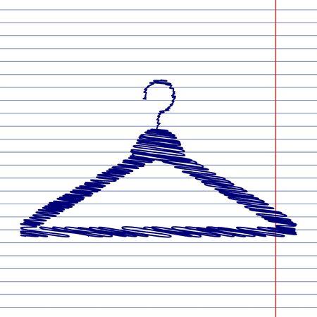 paper hanger: Hanger sign illustration with chalk effect on school paper