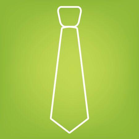 dresscode: Flower line icon on green background. Vector illustration