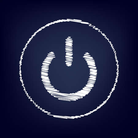 switch off: On Off switch icon with chalk effect. Vector illustration Illustration