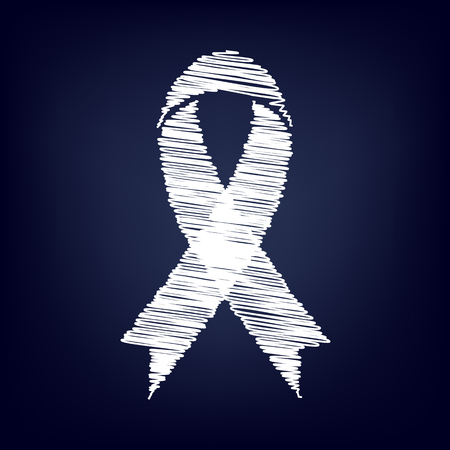 substance abuse awareness: Awareness ribbon with chalk effect. Vector illustration