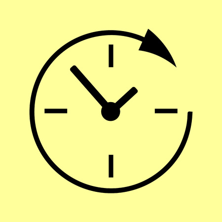 24 hours: Service and support for customers around the clock and 24 hours. Flat style. Vector illustration.