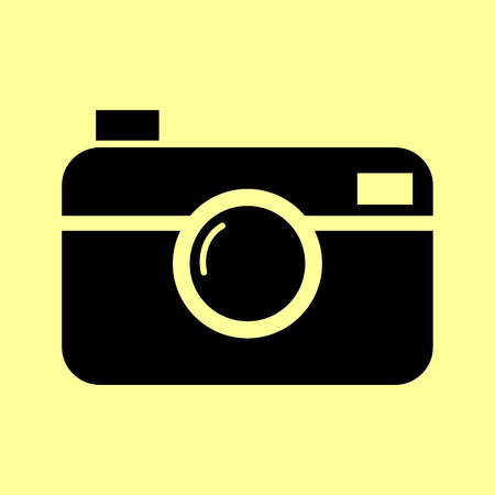 whim: Digital photo camera icon. Flat style icon vector illustration.