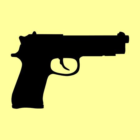 dangerous weapons: Gun sign. Flat style icon vector illustration. Illustration