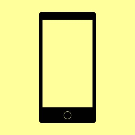 Abstract style modern gadget with blank screen. Template for any content