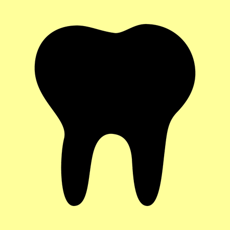 toothcare: Tooth sign. Flat style icon vector illustration. Illustration
