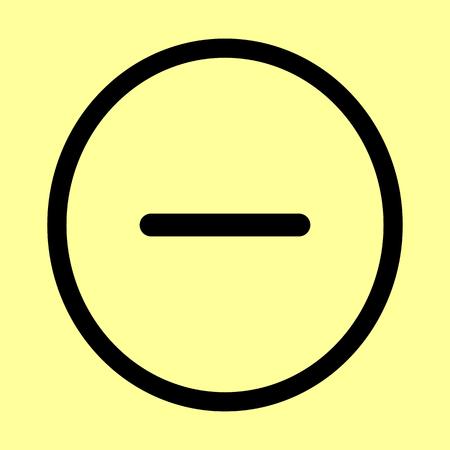 minus: Negative symbol. Minus sign. Flat style icon vector illustration. Illustration
