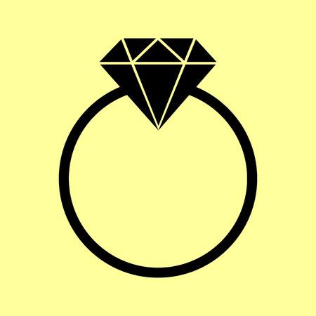 spoil: Diamond sign. Flat style icon vector illustration.