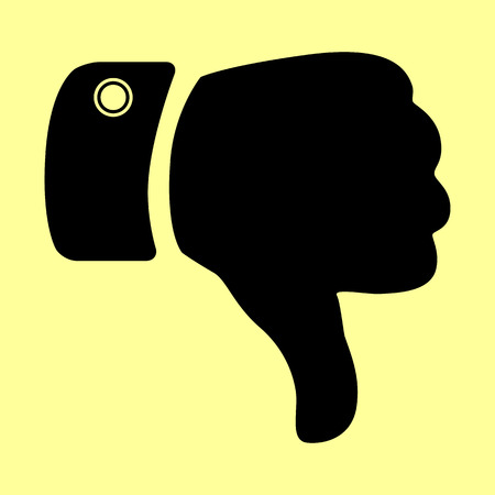 disapprove: Hand sign. Flat style icon vector illustration.