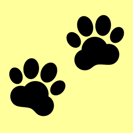 animal tracks: Animal Tracks sign. Flat style icon vector illustration. Vectores