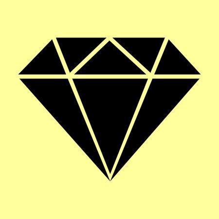 bijou: Diamond sign. Flat style icon vector illustration.