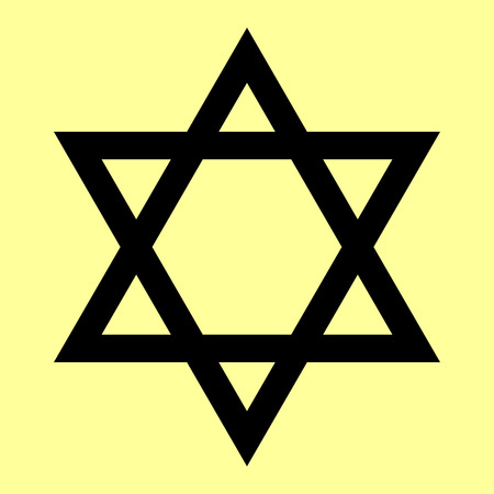magen david: Star. Shield of David or Magen David. Symbol of Israel. Illustration
